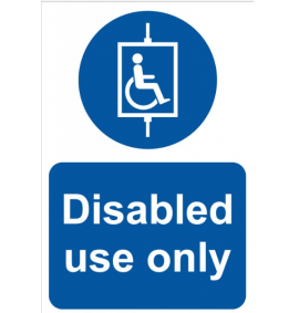 Disabled use only - RPVC (200 x 300mm)