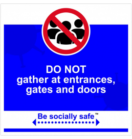 Do not gather sign, Blue - RPVC - (400 x 400mm)