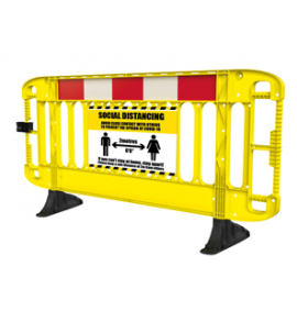 Titan® 2M Barrier with black anti-trip feet - Yellow