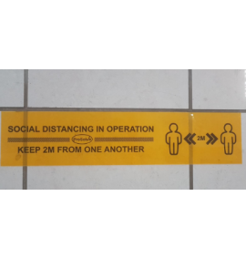 SOCIAL DISTANCING TAPE (440MM X 100MM)